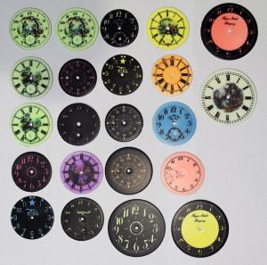 Világító, foszforeszkáló antik óra számlapok készítése, gyártása